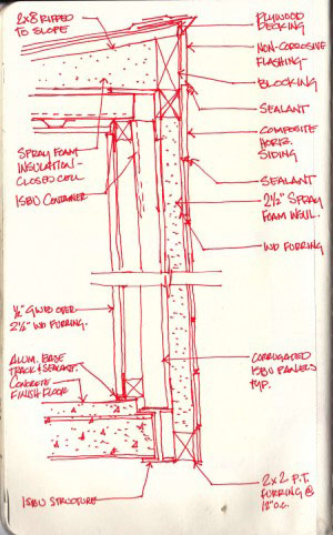 Container wall construction r one studio architecture - Container home construction details ...