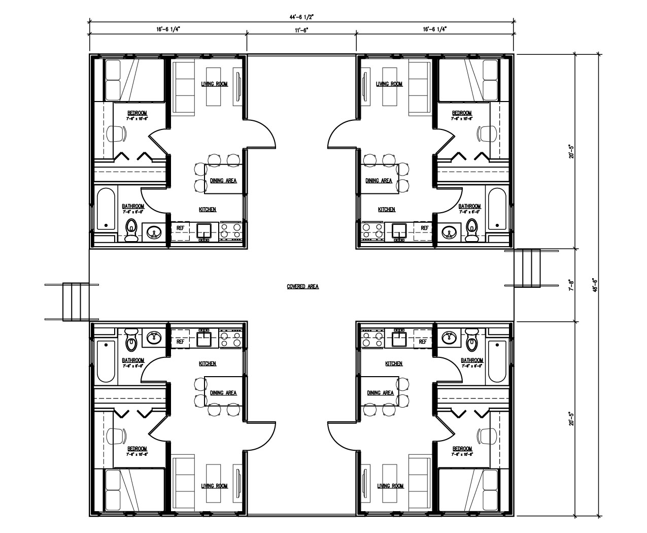 Isbu quad r one studio architecture for Multi unit home plans