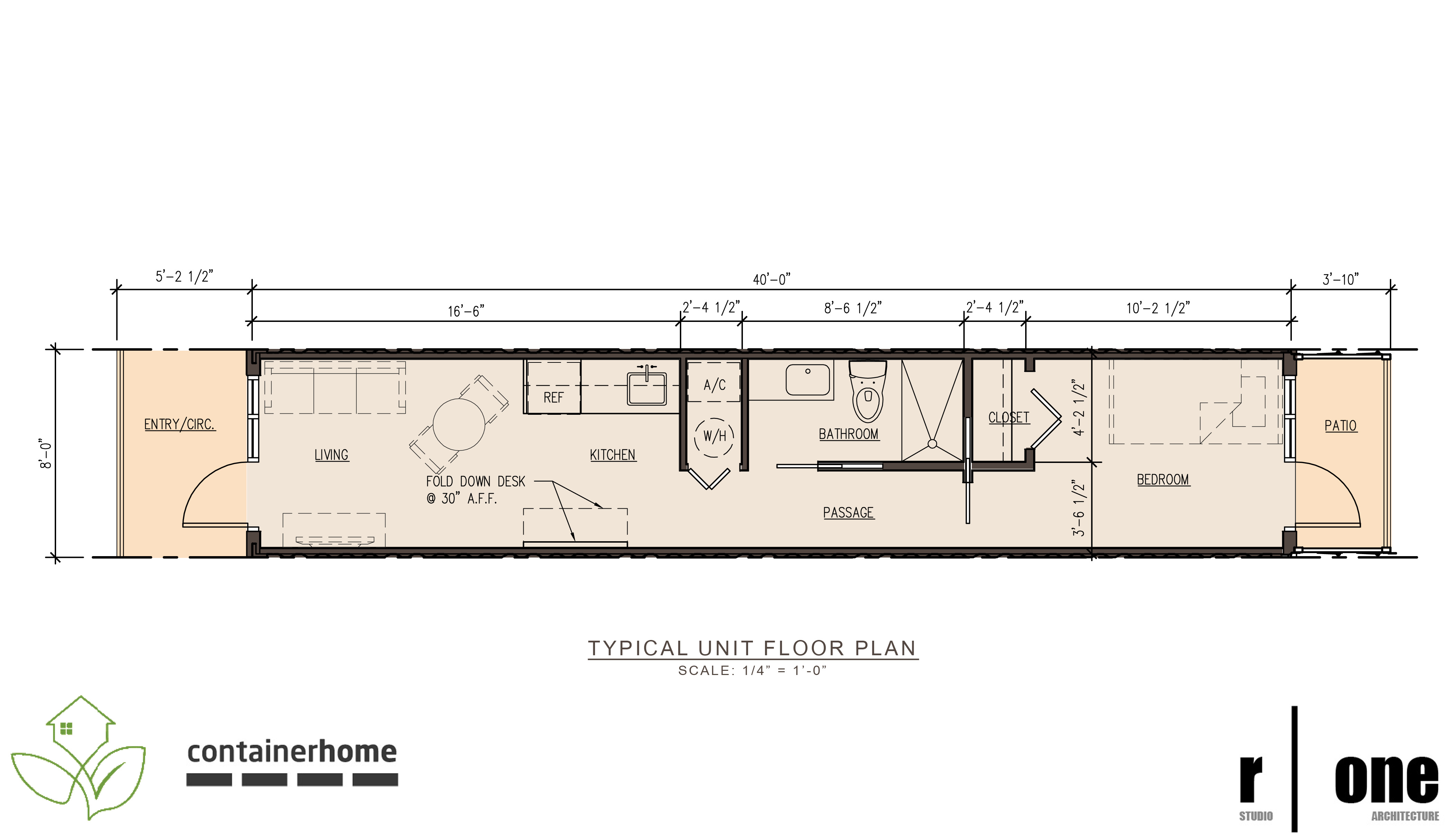 July 2011 r one studio architecture for Unit building plans