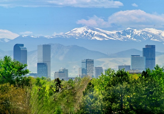 Denver Skyline, summer