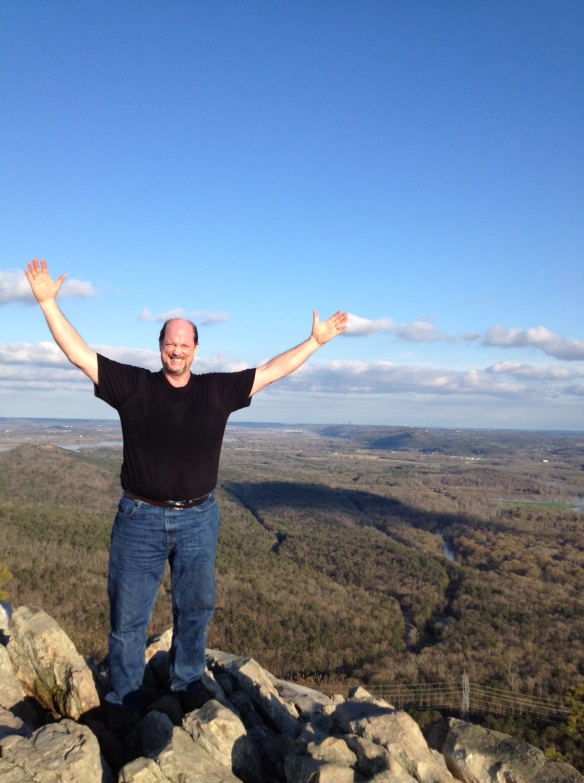 My father-in-law, Duane, at the top of Pinnacle Mountain
