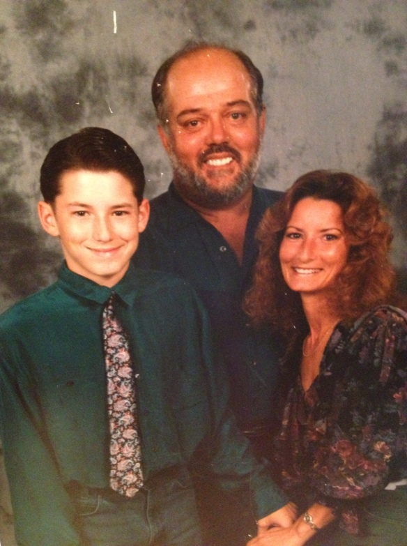 me (13-ish), my stepfather Frank, and my mother
