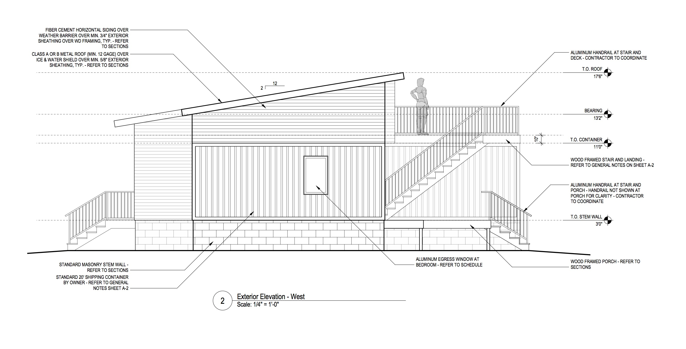 Elevation From Plan : Shipping containers r one studio architecture