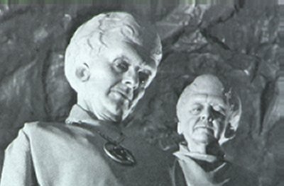 telepathic alien species from an old 50s movie - also what architects will likely look like in the future